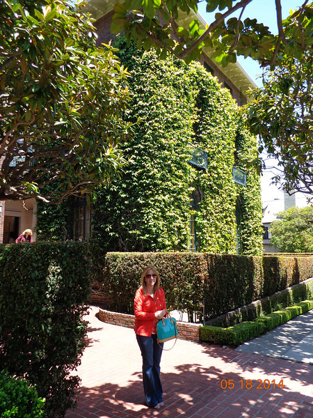 Lori in front of 3660 Jackson St. SF, CA
