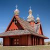 Countryside Log Church