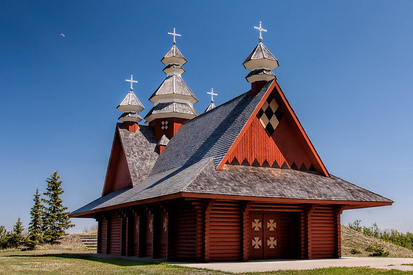 Countryside Log Church