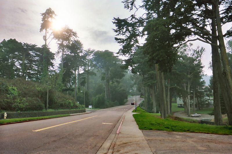 Near the entrance to the Presidio.