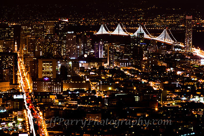 Twin Peaks Bay Lights Night