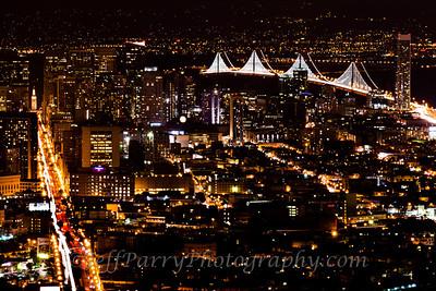 Twin Peaks Bay Lights Night