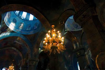 Жітомирський Преображенський катедральний собор, 1864. Збудований на місці Василіянської церкви (1771). Висота храму 53 м. Zhytomyr. Dome of Holy Transfiguration Cathedral