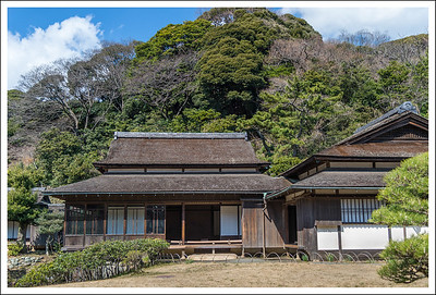 A building in the inner garden that was designed after Katsura Rikyu in Kyoto.