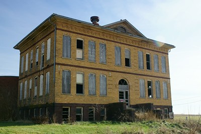 Abandoned school in Sharpsburg, IA.
