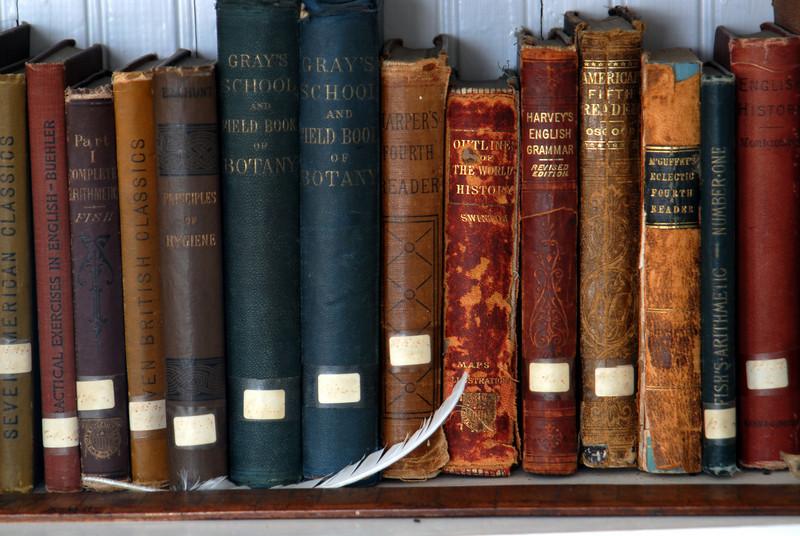Book Shelf found at the Gibbs Farm schoolhouse