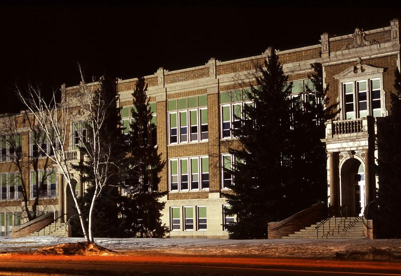 Bemidji High School (night shot)