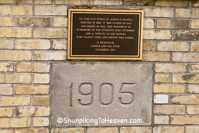 Cornerstone of St. Joseph's School, East Bristol, Wisconsin