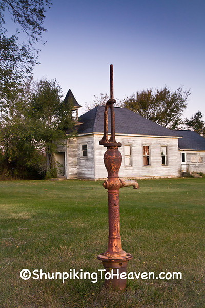 Water Pump at Orange Mill School, District 1, Juneau County, Wisconsin