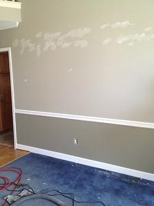 New paint, ugly carpet.