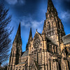 St Mary's Cathedral<br /> St Mary's Cathedral or the Cathedral Church of Saint Mary the Virgin is a cathedral of the Scottish Episcopal Church in Edinburgh, Scotland. It was built in the late 19th century in the West End of Edinburgh's New Town. The cathedral is the see of the Bishop of Edinburgh, one of seven bishops within the Episcopal Church, which is part of the Anglican Communion. Designed in a Gothic style by Sir George Gilbert Scott, the cathedral is now protected as a category A listed building.