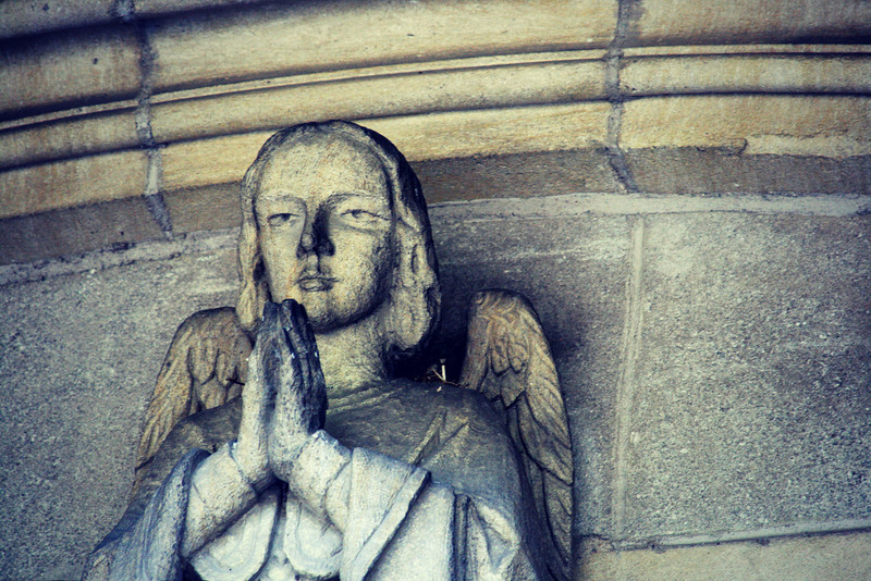 Angel statue, used PicMonkey to fiddle.