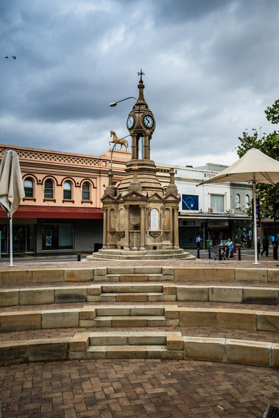 Parramatta, NSW, Australia<br /> The Centennial Memorial in Bicentennial Square (formerly Centenary Square). Erected in 1888 to commemorate the colony's centenary.
