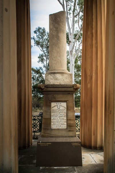 Parramatta, NSW, Australia<br /> The Boer War Memorial (originally called the 'Soldiers Memorial') was erected in 1904. The Doric columns are from the 1837 Parramatta Courthouse; the canon is from the defenses overlooking Port Jackson.