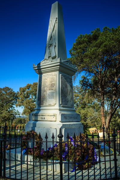 Wilberforce, Australia<br /> War Memorial, Wilberforce Park. Erected 1918 by the residents of Wilberforce.