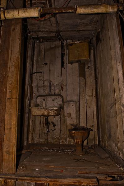 Underground Tunnel Restroom