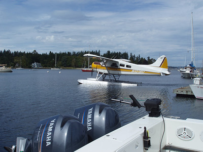 sea plane and Jerry's twins... only a big fish or an eagle could make this photo better...