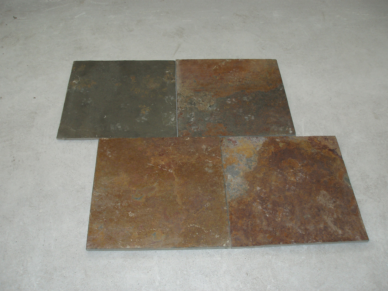 "boring right now, but wait till you see this ""China multi"" slate laid down one the floor."