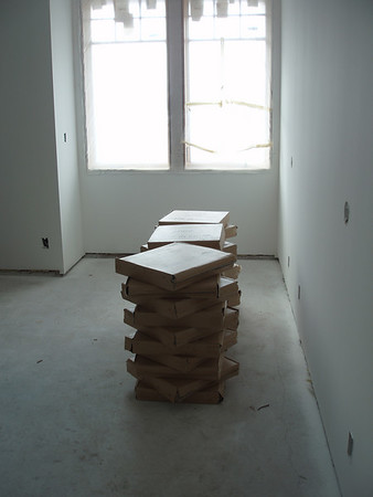 this pile of tile is sitting right were your bed will be when you come visit!