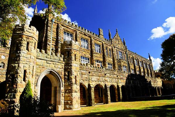 Walsh-Ellett Hall, across the courtyard from All Saints' Chapel