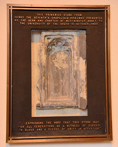 A stone sent from Westminster Abbey to the University of the South at Sewanee