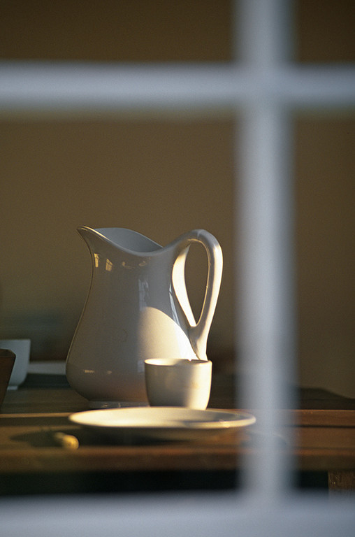 Shaker Water Pitcher --        Thru a Window Softly