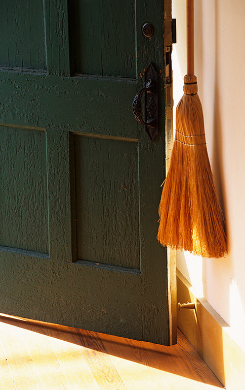 Shaker Broom and Open Door