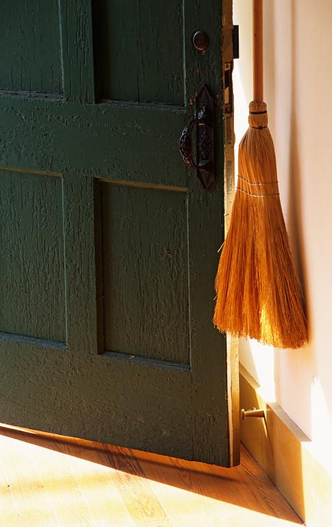 Shaker Broom and Open Door