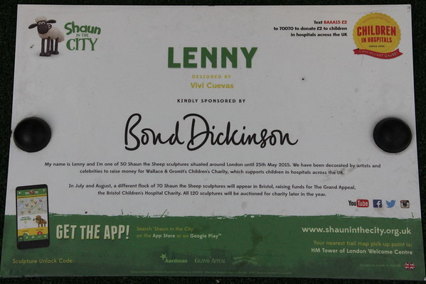 Shaun in the City - 34. Lenny<br /> More London<br /> 11 April 2015