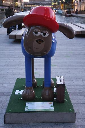 Shaun in the City - 46.  Paddington Shaun<br /> Merchant Square, Paddington Basin<br /> 11 April 2015