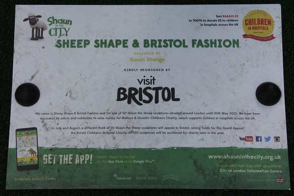 Shaun in the City - 21. Sheep Shape & Bristol Fashion<br /> Peter's Hill<br /> 11 April 2015