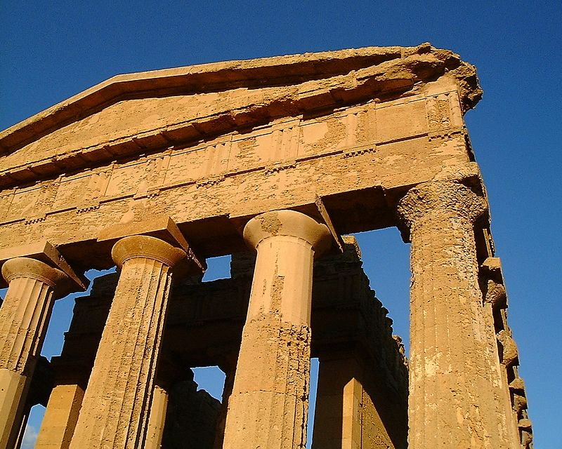 Greec temple in Grigento 5 century BC