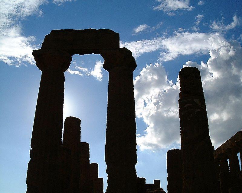 Greec temple in Grigento 5 century BC.