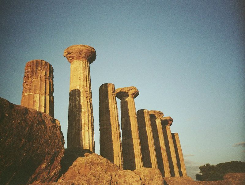 Agrigento greec temple  by lomography