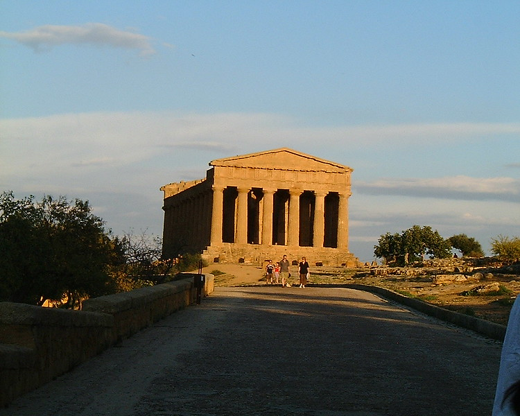 Greec temple in Grigento 5 century BC