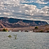 A popular spot for lunch or overnight camping on the scenic Lake Meade, created by the construction of the Hoover Dam.