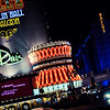 The Las Vegas strip in all neon glory.