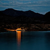 Getting set for the night in calm, warm waters and under a beautiful sky on Lake Meade.