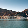The beauty of nature along the deeply carved canyon walls that form Lake Meade, created by the construction of the Hoover Dam.