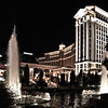 The architectural details and fountains in front of Caesar's Palace Hotel, Las Vegas, NV.
