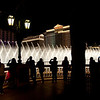 The famous water feature choreographed in sync with the music, performs for the fans outside of The Bellagio Hotel, Las Vegas, NV.
