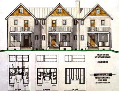 Colored Pencil and Ink drawings to market property