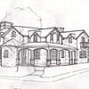 Sketch of Proposed Home in Hill Top