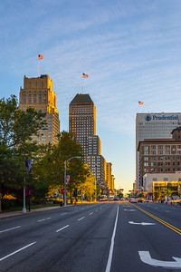 Downtown Newark in the Early Evening hours