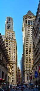 Skyscrapers along Wall Street