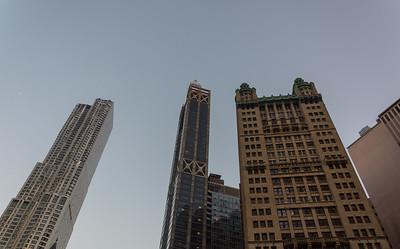 Skyscrapers around City Hall Park