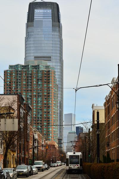 Skyscraper & Light Rail in Jersey City