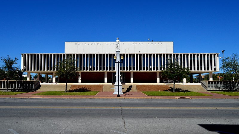 Matagorda County Court House - South Elevation
