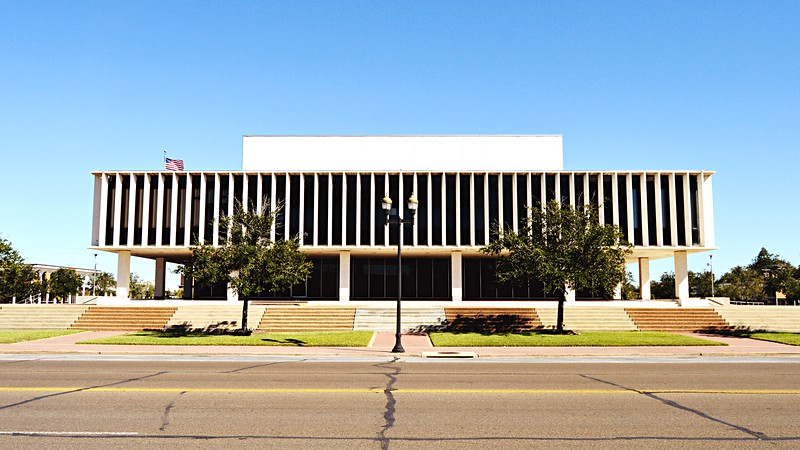 Matagorda County Court House - West Elevation
