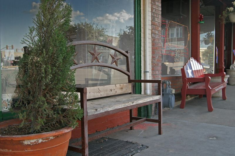 Weatherford storefront bench